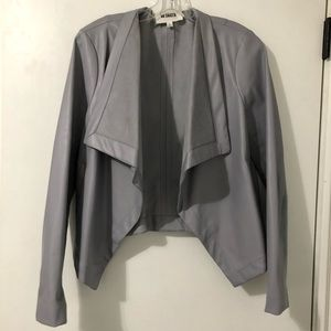 BB Dakota Leather Drapey Jacket